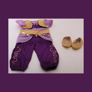 American Girl Purple Genie Costume w/Gold Slippers
